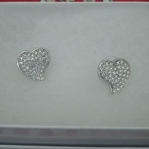 Guess Sparkling Heart Earrings